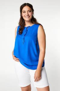 Miss Etam Plus top blauw, Blauw