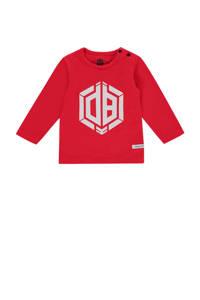 Vingino Daley Blind longsleeve Jaqua met logo rood/wit, Rood/wit