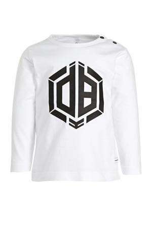 longsleeve Jaqua met logo wit/zwart