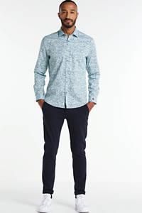 Cast Iron regular fit overhemd met all over print lichtblauw, Lichtblauw