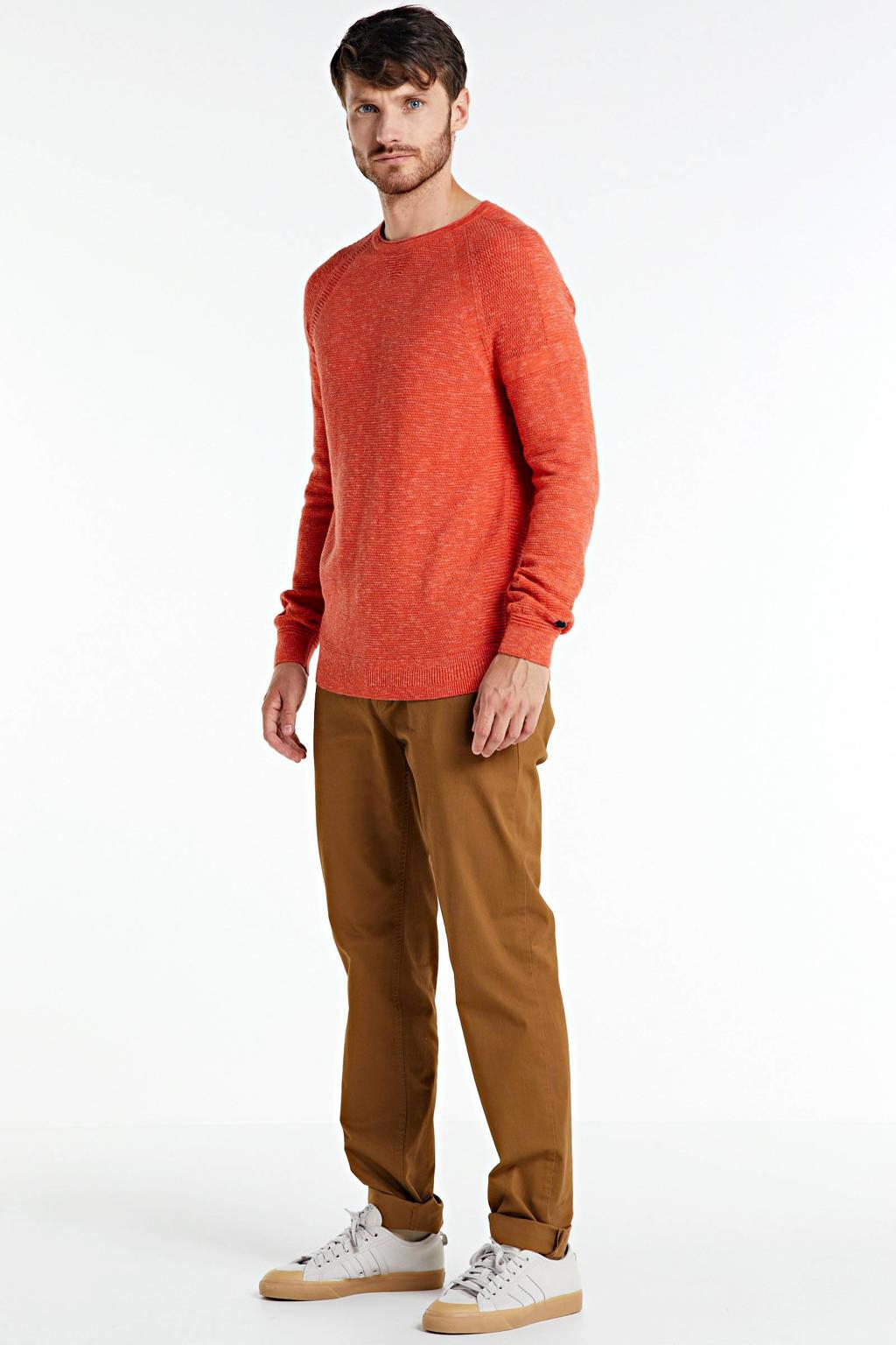 Cast Iron gemêleerde trui oranje, Oranje