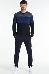 Cast Iron fijngebreide trui blauw, Blauw