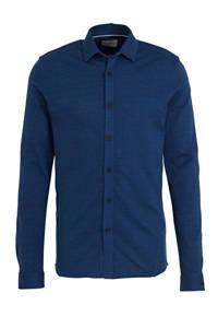 Cast Iron slim fit jersey overhemd kobaltblauw, Kobaltblauw