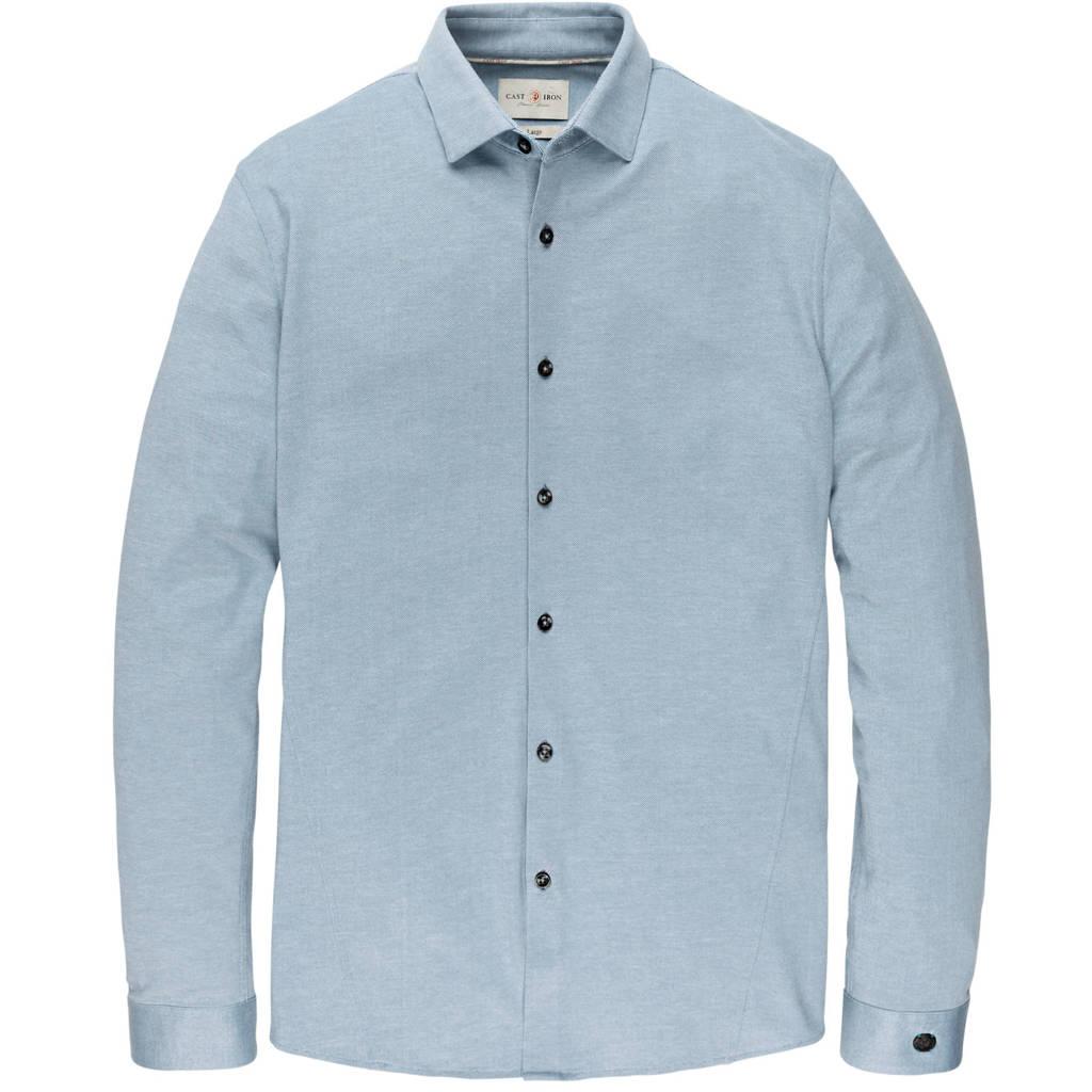 Cast Iron regular fit jersey overhemd lichtblauw, Lichtblauw