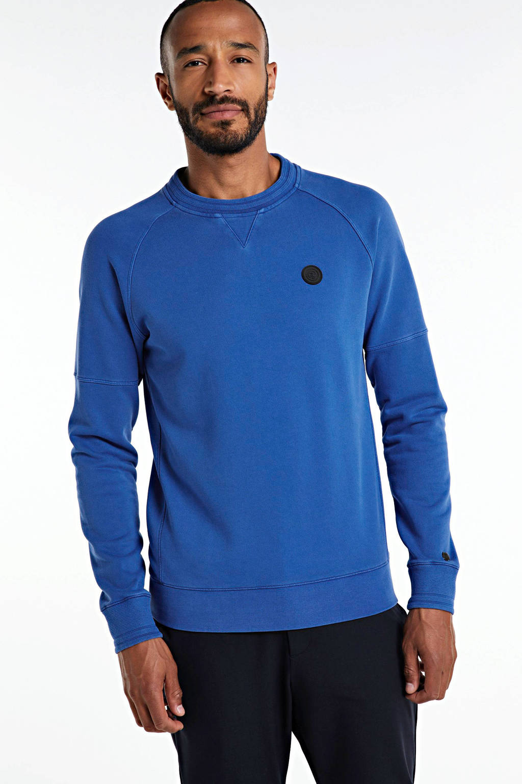 Cast Iron sweater kobaltblauw, Kobaltblauw
