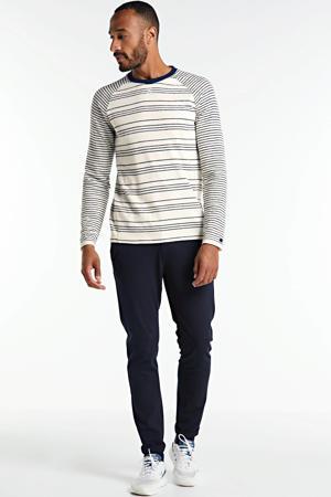 gestreepte trui ecru/donkerblauw