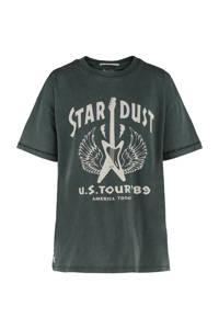 America Today Junior T-shirt Esmee met printopdruk antraciet/grijs, Antraciet/grijs