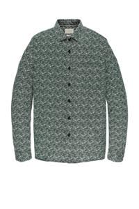 Cast Iron regular fit overhemd met all over print groen, Groen