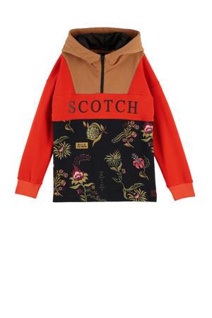 hoodie rood/bruin