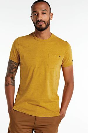 gemêleerd T-shirt oker