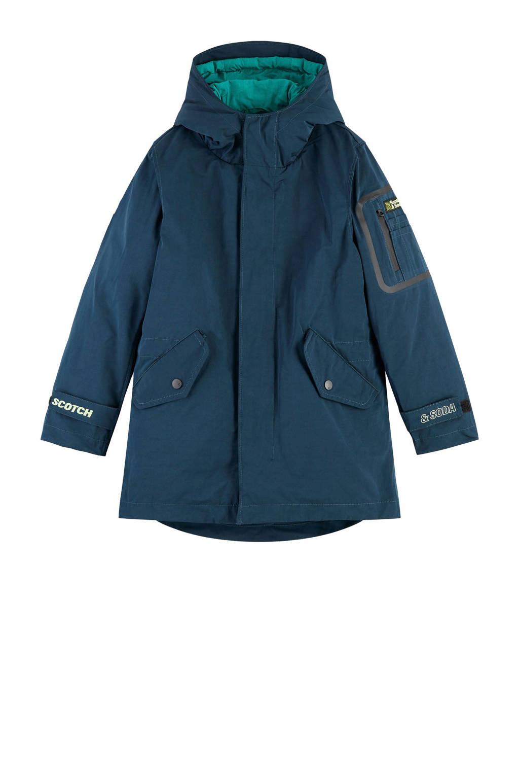 Scotch & Soda parka winterjas donkerblauw, Donkerblauw