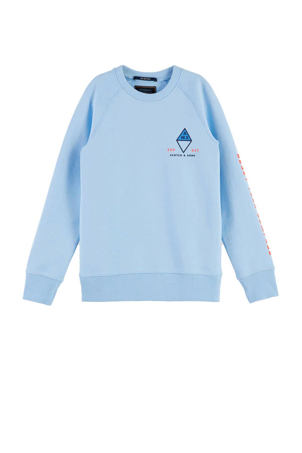 Scotch & Soda sweater van biologisch katoen lichtblauw, Lichtblauw