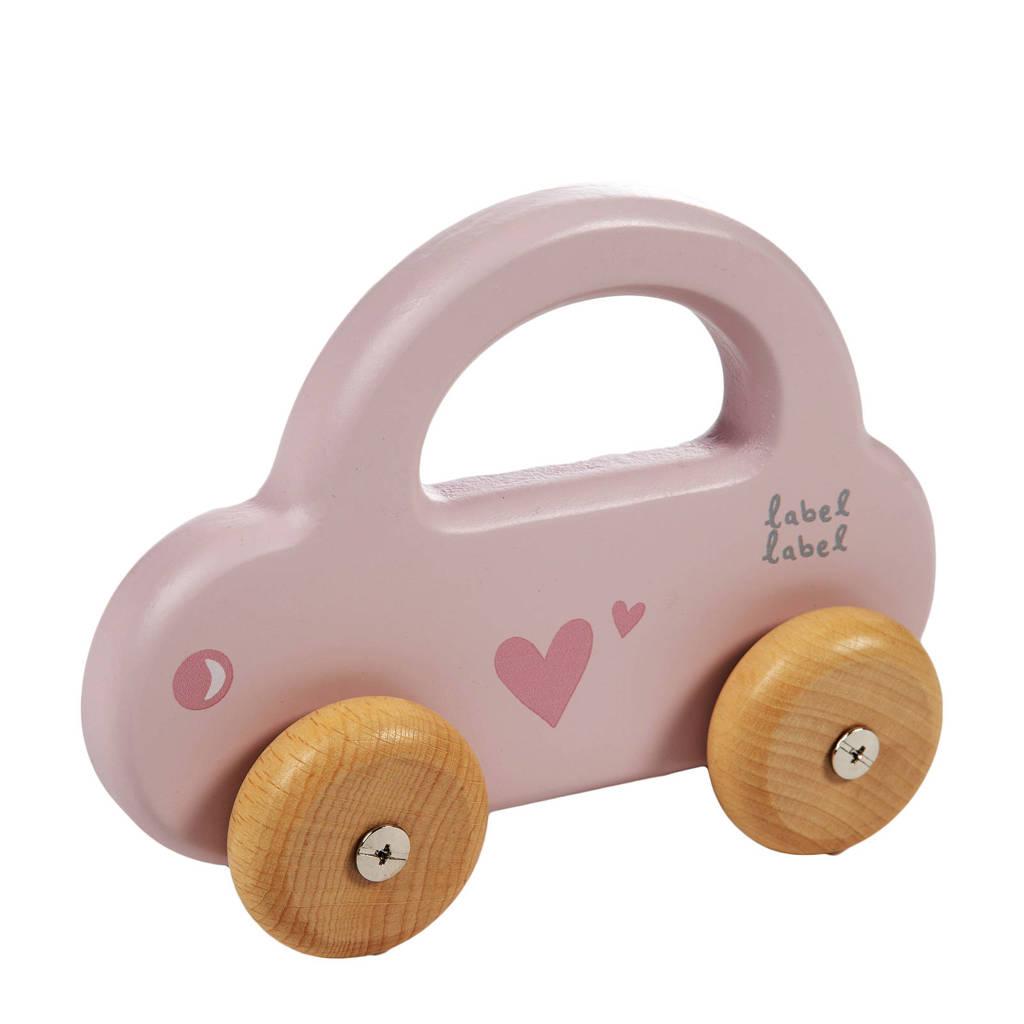 Label Label houten speelgoed auto, Roze