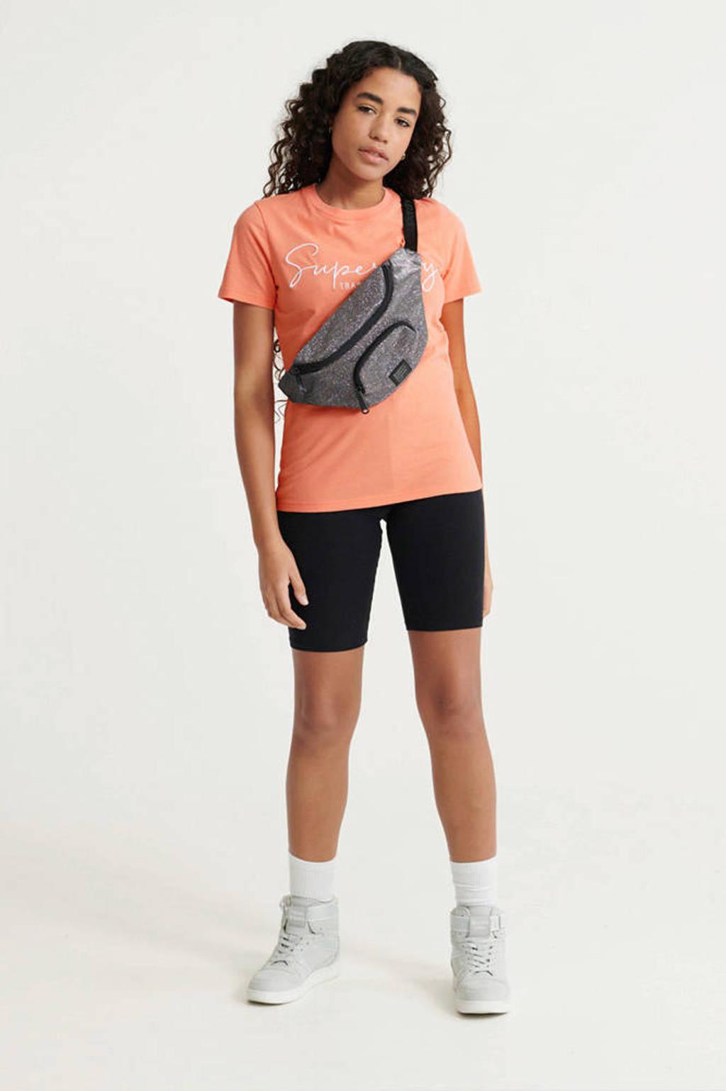 Superdry T-shirt met logo koraal, Koraal