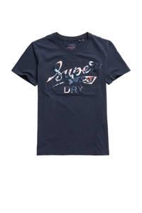 Superdry T-shirt met printopdruk marine, Marine