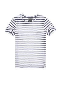 Superdry gestreept T-shirt wit/blauw, Wit/blauw