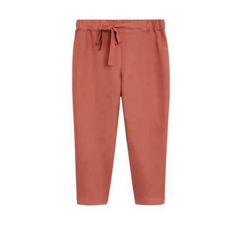 Violeta by Mango cropped straight fit pantalon met
