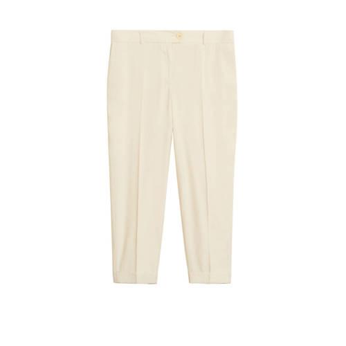 Violeta by Mango cropped straight fit pantalon lic