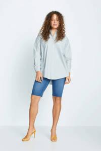 Violeta by Mango gestreepte blouse mintgroen/wit, Mintgroen/wit
