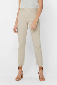 ONLY cropped high waist regular fit jeans beige, Beige