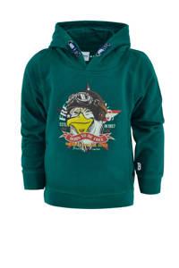 born to be famous. hoodie Volco met printopdruk groen, Groen
