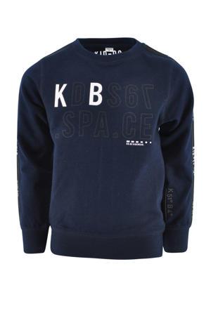 sweater Oscar met tekst donkerblauw