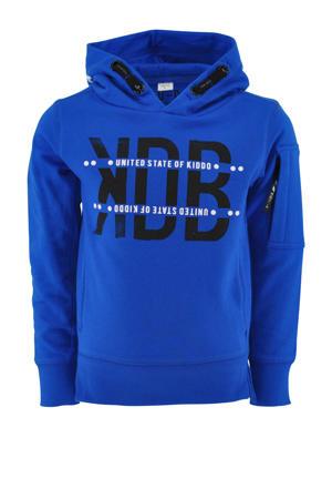hoodie Rens met tekst kobaltblauw