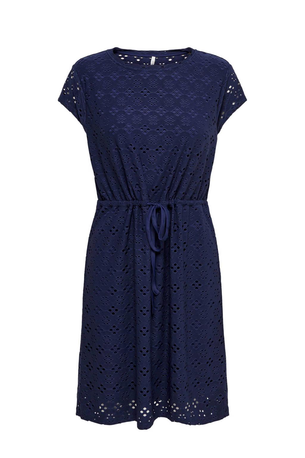 ONLY jersey jurk blauw, Blauw