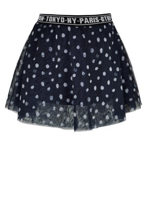 semi-transparante rok Dream met all over print navy