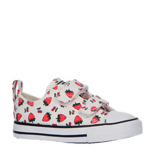 Chuck Taylor All Star 2V OX sneakers wit/rood
