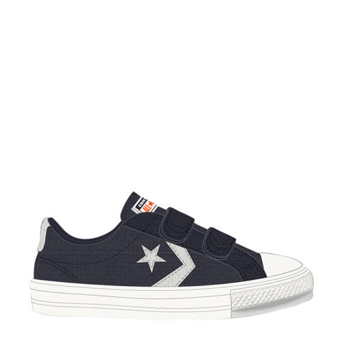 Converse Star Player 2V OX sneakers donkerblauw/wi