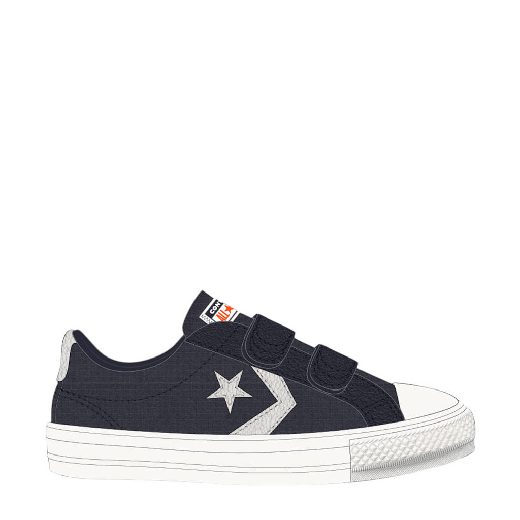 Converse Star Player 2V OX sneakers donkerblauw/wit, Donkerblauw/wit