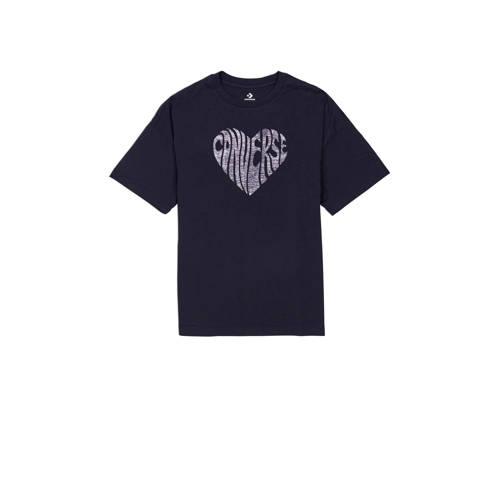 Converse T-shirt zwart