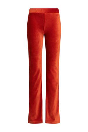 corduroy loose fit broek oranje