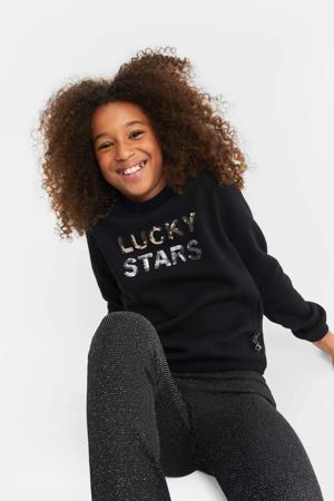 sweater met tekst zwart
