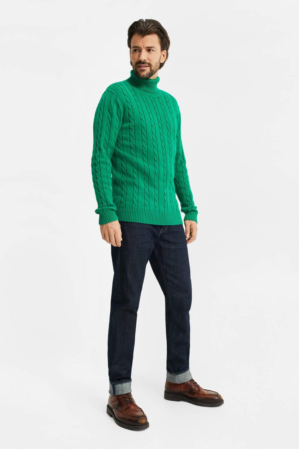 WE Fashion kabeltrui groen, Groen