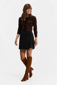 WE Fashion corduroy rok zwart, Zwart