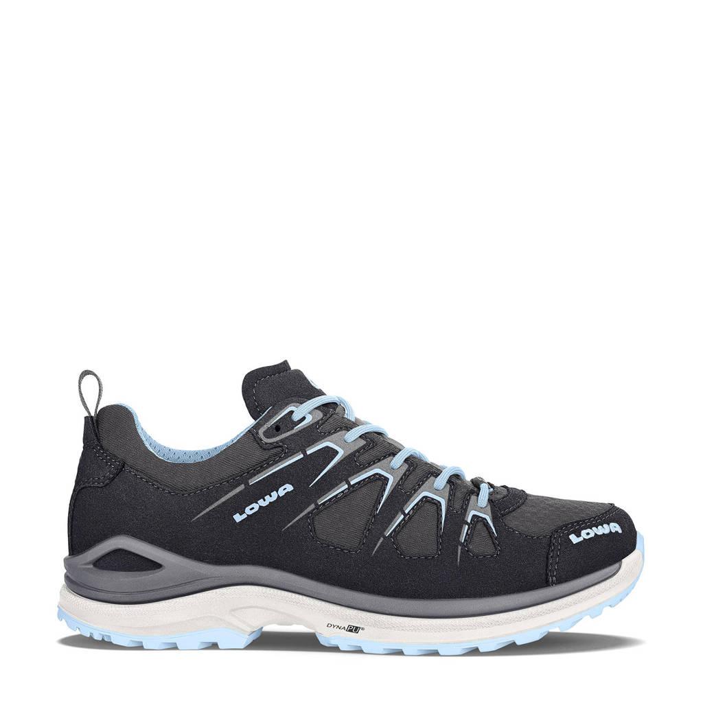 Lowa Innox Evo GTX  Lo wandelschoenen zwart/blauw, Black/Ice-Blue