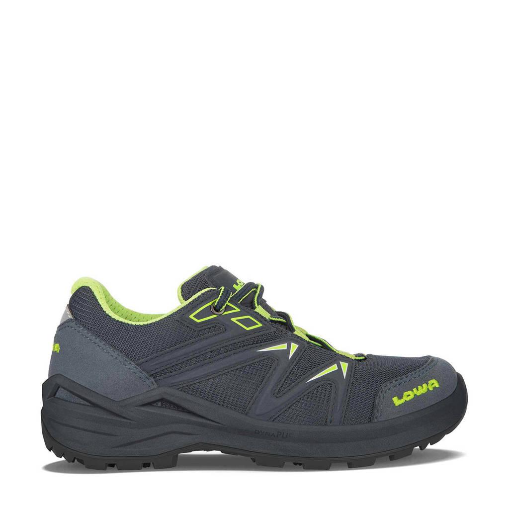 Lowa Innox Pro GTX LO Lacing wandelschoenen grijsblauw/lime kids, Steelblue/Lime
