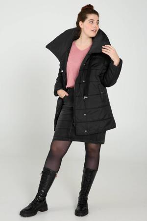 gewatteerde jas zwart