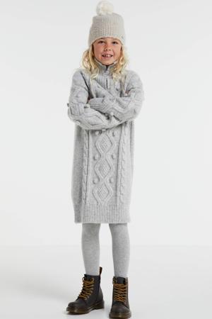 jurk grijs melange