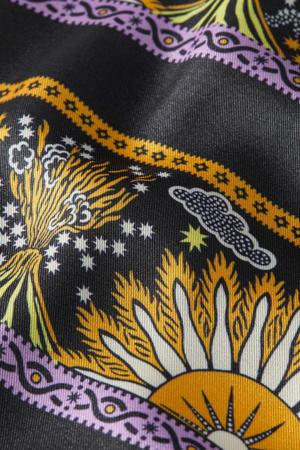 omkeerbaar jasje met printopdruk antraciet/lila/geel