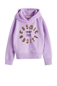 Scotch & Soda hoodie met tekst lila, Lila