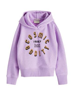 hoodie met tekst lila