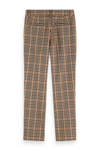 Scotch & Soda geruite slim fit broek beige/multi, Beige/multi