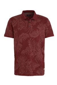 JACK & JONES PREMIUM regular fit polo met bladprint rood, Rood