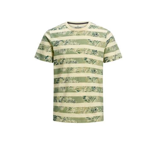 JACK & JONES PREMIUM gestreept T-shirt groen