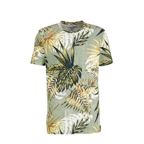 JACK & JONES ORIGINALS T-shirt met bladprint l