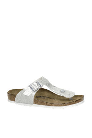 Gizeh  teenslippers zilver/wit