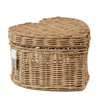 Riviera Maison opbergmand RR Happy Heart Basket, Bruin
